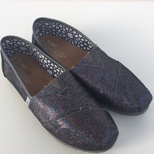 Toms in Multi Glitter Sparkle Pattern